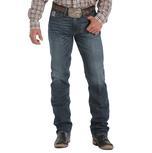 Cinch Mens Western Silver Label Slim Dark Wash Jeans