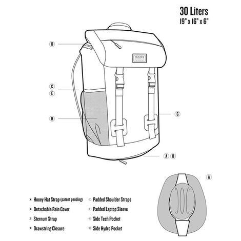Hooey Burgundy Topper II Backpack